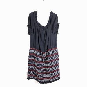 ASOS Plus Size Black Peasant Boho Stretch Dress 24
